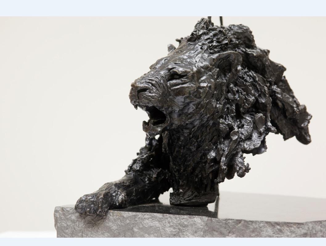 "Sculpture of Liouba Wildenstein,""Lion"",2007,photographe Vladimir Sychov"